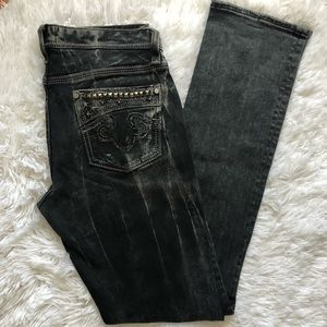 REROCK FOR EXPRESS Sz 6 Straight Jeans